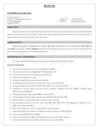 Resume Format For Structural Engineer