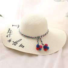 Summer Sun Big Brim Mom-Kid Beach Hat Hand Made Straw - Swim \u0026