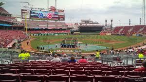Reds Seating Chart Mezzanine Great American Ball Park Mezzanine Baseball Seating