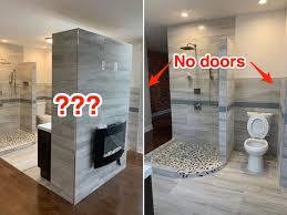 Master Toilet Design A Master Suite With An Open Concept Bathroom That Has No