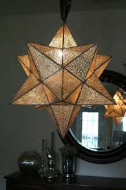 Lamp Decoration Design Accessories Fetching Glass And Brass Moravian Star Lantern As 24