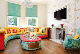 colorful living room. brightly colored elegant living room colorful o