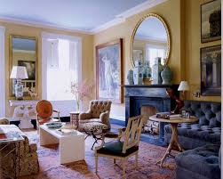 one of redd s projects below where he covered a massive living room pulling blues and chocolate brown from the rug mr2