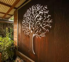 autumn tree 3d wall art iron bark metal design