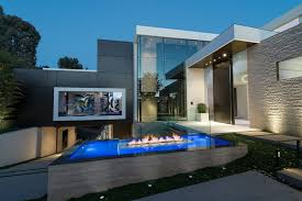 modern houses architecture.  Modern Modern Facade And Outdoor Fireplace With Houses Architecture