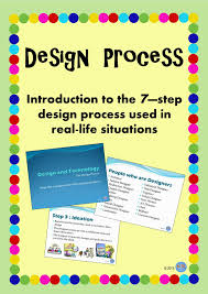 Industrial Design Process Steps 7 Step Design Process Powerpoint To Teach Students The Steps