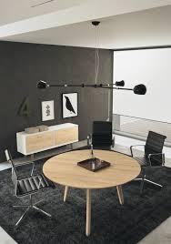 contemporary boardroom table glass wood veneer round
