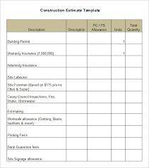 5 Construction Estimate Templates Pdf Doc Excel Free