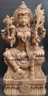 Hindu Goddess... - Sengottuvel wood carvings-Thammampatty   Facebook