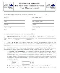 Simple Construction Contract Template Free Awesome Home Remodeling