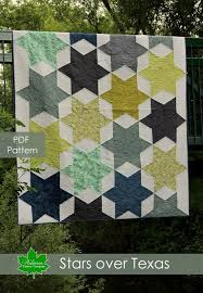 Seven Sisters Clothing Size Chart Stars Over Texas Quilt Pattern Pdf Queen Size Quilt Pattern Instant Download Patterns Large Stars Pieced Quilt