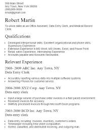Data Entry Resume Objective Objective Data Entry Clerk Objective ...