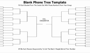 Calling Tree Template Excel Printable Phone Tree Template Then Printable Phone Tree