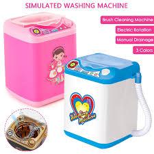 Thả Con Tàu Trang Điểm Mini Bàn Chải Máy Giặt Đồ Chơi Mô Phỏng Giả Trẻ Em  Chơi Điện Bông Đánh Phấn Bụi Máy Giặt Công Cụ|Cọ Phấn Mắt
