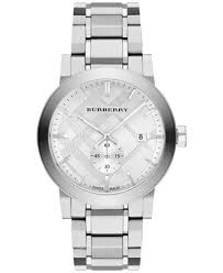 burberry men s swiss stainless steel bracelet watch 42mm bu9900 burberry men s swiss stainless steel bracelet watch 42mm bu9900