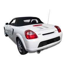 Toyota MR2 2000-2007 Convertible Top - Black Stayfast w/ Glass Window