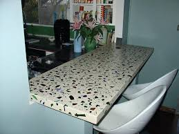 image of recycled glass concrete broken countertop kitchen countertops ideas
