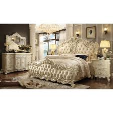 bedroom sets hds hd5800 victorian grand tufted leather bed with in set ideas 28