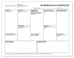 Basic Business Plan Template Quick And Easy Business Plan Template Craft Industry Alliance