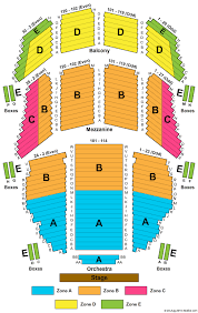 Colonial Theater Seating Chart 2019 Free Charts Library
