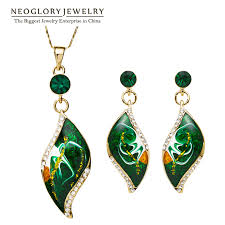 gold plated enamel african costume fashion brand jewelry sets bridal bridesmaid enement indian gifts new ena1 lolfashion net