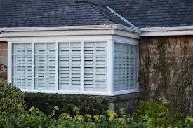 bi folding shutters exterior view