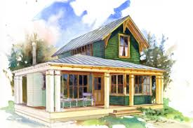 Micro Cottage Floor Plans   Houseplans comSignature Beach cottage plan