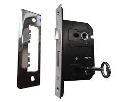 door lock and key black and white. Internal Door Locks 3 Lever Sash Lock - 63mm / 45mm Backset And Key Black White