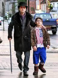 Nicolas Cage walking down the street ...
