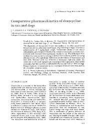 Doxycycline For Dogs Dosage Chart Pdf Comparative Pharmacokinetics Of Doxycycline In Cats And