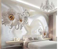 Modern Wallpaper For Living Room Customize 3d Photo 3d Silk Flowr Minimalist Modern European Large