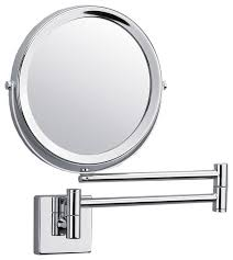 dwba wall mounted 5x cosmetic makeup magnifying 2 arms swivel mirror polishe