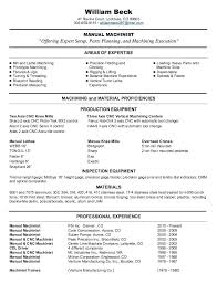 Sample Machinist Resumes Resume For Machinist Free Machinist Resume Samples Inspirational