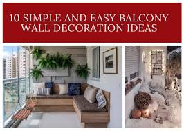 easy balcony wall decoration ideas