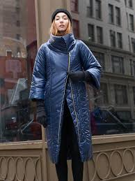 crafted in new york city and made of 100 percent vegan and recycled fibers this massive coat is insulated with primaloft eco used by arctic explorers and