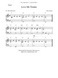 A beautiful melody is juxtaposed with a repeating left hand pattern, which breaks away into long climbing chords in part 2. Love Me Tender Free Printable Sheet Music Love Me Tender Free Printable Sheet Music Pdf Pdf4pro