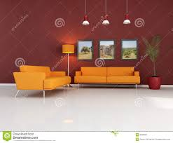 Orange Couch Living Room Orange Couch In Modern Living Room Royalty Free Stock Photography