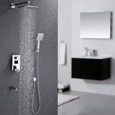 Homelody Unterputz Duschsystem Mit Lcd Temperatur Anzeige Duschset Duscharmatur Regendusche Mit Rainshower Handbrause Duschkopf Dusche Armatur Und