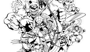Marvel Comics Coloring Pages Printable Jokingartcom Marvel Comics