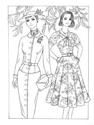Small Picture Creative Haven Fabulous Fashions of the 1950s Coloring Book