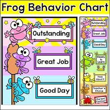 Frog Themed Behavior Chart Frog Classroom Decor Behavior Clip Chart Classroom