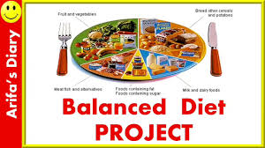 Healthy And Balanced Diet Chart Balanced Diet Project Healthy Eating Habits Nutrition