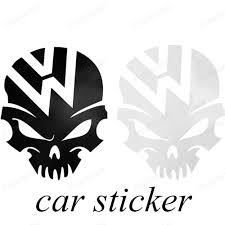 volkswagen logo black and white. warna hitam dan putih tengkorak logo stiker mobil untuk volkswagen vw kumbang polo golf cc touareg tiguan passat scirocco styling di dari logo black and white