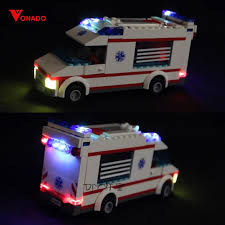 led light for lego city series emergency ambulance friends building blocks bricks 4431 toys gifts only light with battery box