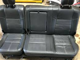 08 2008 2016 ford f250 king ranch super duty rear bench seat leather armrest oem
