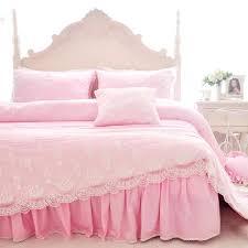 princess bedspread solid color princess bedspread bedding sets luxury pink bed skirt lace edge duvet cover princess bedspread