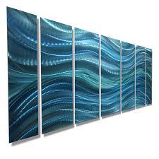 calm before the storm aqua blue modern abstract metal wall art by jon allen 68 x 24  on blue abstract metal wall art with calm before the storm aqua blue modern abstract metal wall art by
