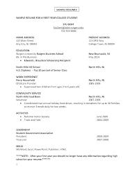 High School Student Summer Jobs Summer Job Resume Template Callatishigh Info