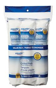 equate cotton quilted pads