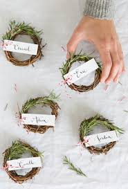 Rosemary Wreath Place Cards - Camille Styles